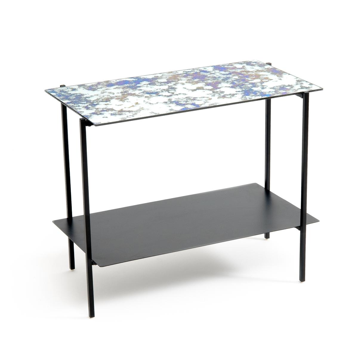 Столик журнальный из стали и стекла, LIPSTICK