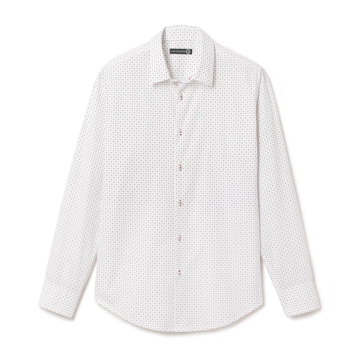Рубашка с рисунком приталенного покроя