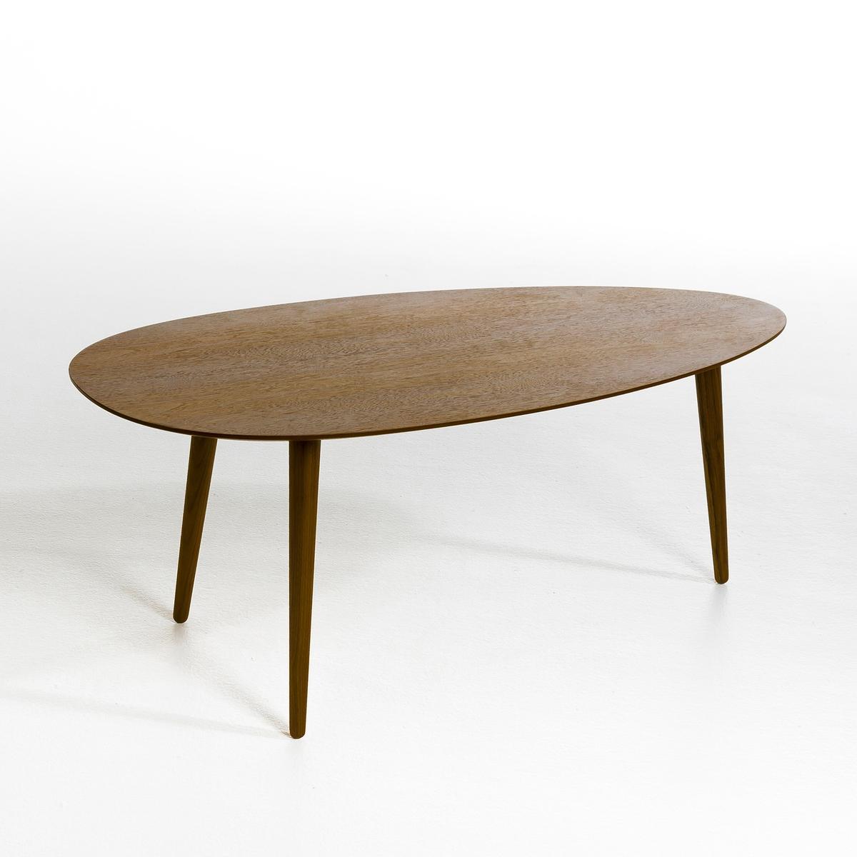 Журнальный столик из каучукового дерева с лакированным покрытием  Дл70 см, FlashbackЖурнальный столик из каучукового дерева с лакированным покрытием Flashback. Добавьте нотку ностальгии в ваш интерьер с этим круглым столом в ретро стиле  .Характеристики: :Столешница из МДФ  .Ножки из массива орехового дерева . Размеры :- Ш.70 x В.35 x Г.35 см.Размеры и вес коробки :- 78 x 8,5 x 40 см, 4,5 кг Чтобы сохранить внешний вид лакированного покрытия столешницы, рекомендуем избегать ударов и порезов, от которых на покрытии остаются микроцарапины. Настоятельно рекомендуем использовать подставки под тарелки и стаканы.<br><br>Цвет: ореховый
