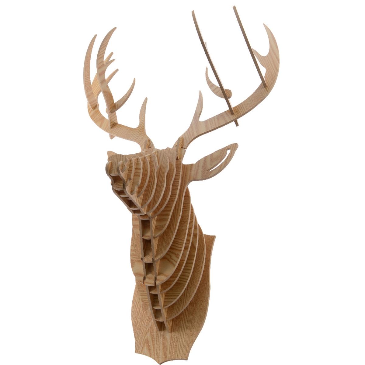Трофей охотничий, DyanneОписание:- Голова оленя (стилизация).Характеристики:- МДФ, декорированная деревом.- Шурупы и дюбеля не прилагаются.Откройте для себя всю коллекцию  предметов  декора на laredoute.ru.Размеры:52,5 x 33 x Выс. 65 см<br><br>Цвет: дерево