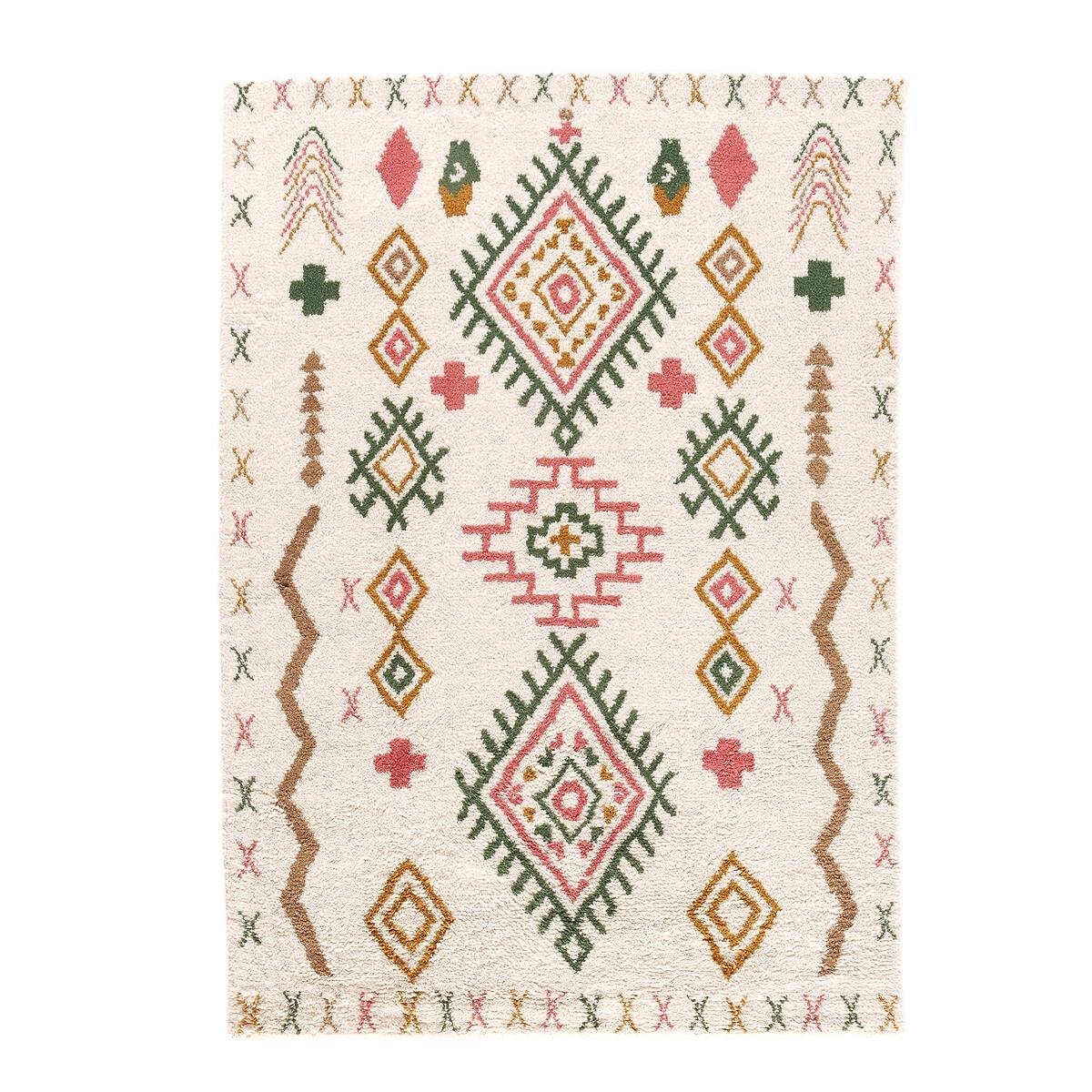Фото - Ковер LaRedoute В берберском стиле из шерсти Tobi 160 x 230 см разноцветный ковер laredoute в берберском стиле rabisco 160 x 230 см бежевый