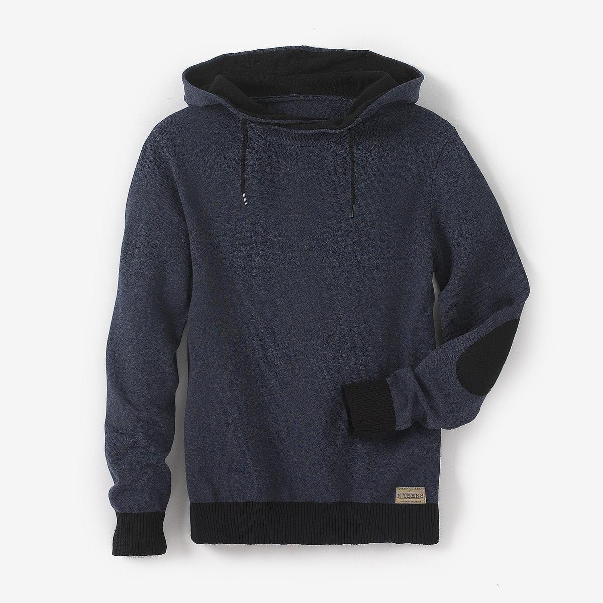 Пуловер с капюшоном, 10-16 лет от La Redoute