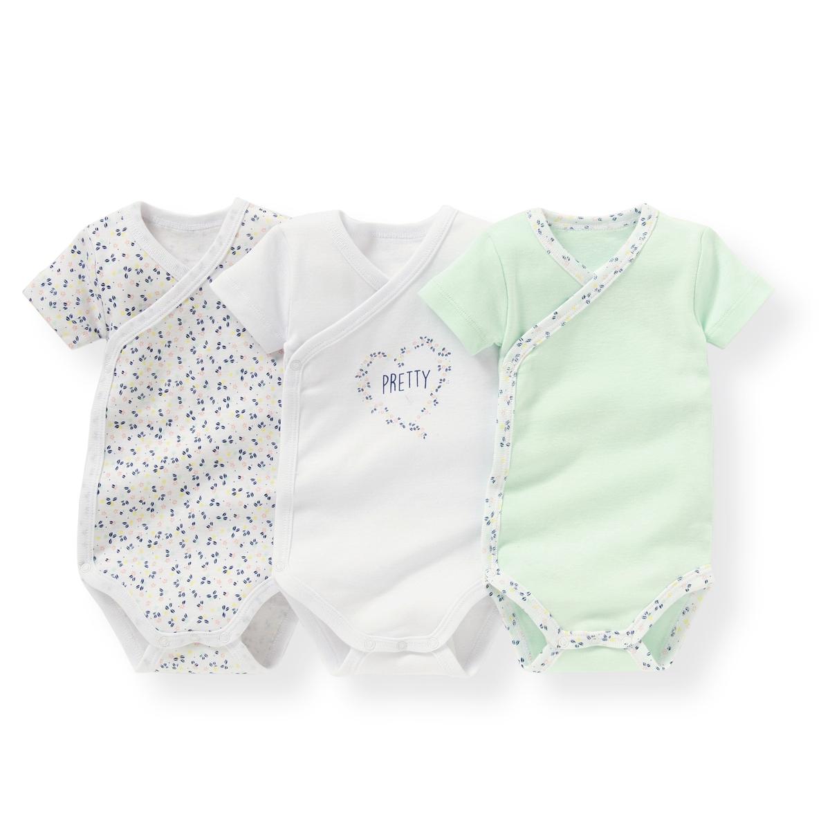 Комплект боди из хлопка для новорожденныхОписание  •  Рисунок-принт  •  Для новорожденных •  Короткие рукава •  Из хлопкаСостав и уход  •  100% хлопок •  Машинная стирка при 40 °С •  Сухая чистка и отбеливание запрещены   •  Машинная сушка в умеренном режиме •  Низкая температура глажки<br><br>Цвет: рисунок разноцветный<br>Размер: 3 года - 94 см.18 мес. - 81 см.9 мес. - 71 см.1 мес. - 54 см