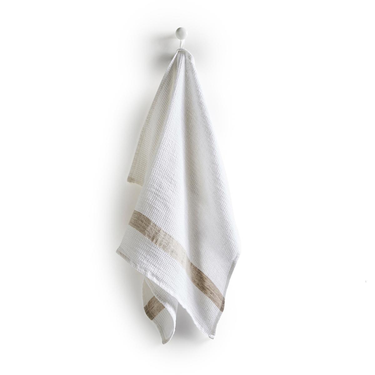 Полотенце из вафельной ткани, 100% лен, Dactyle<br><br>Цвет: антрацит,белый,серо-бежевый