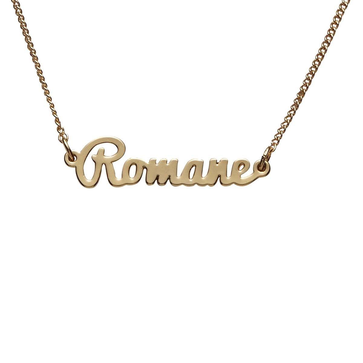 Bracelet doré prénom Romane