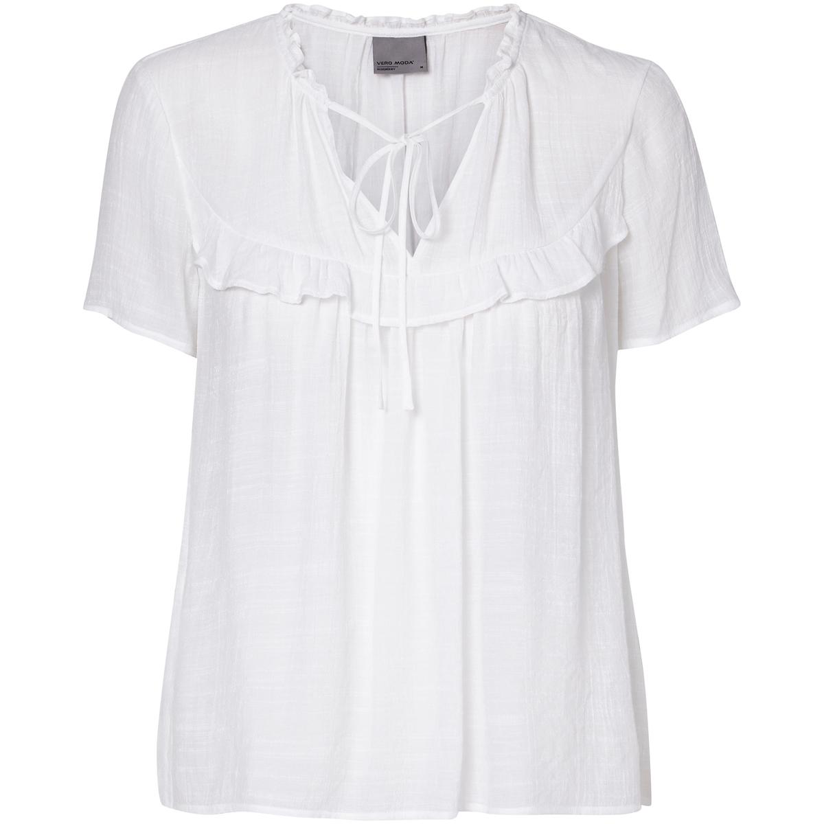 Блузка прямого покроя из вискозы