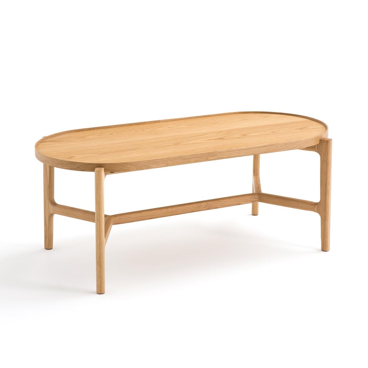 Стол La Redoute Журнальный из дуба Alyasa единый размер каштановый стол la redoute журнальный прямоугольный из массива дуба aranza единый размер каштановый