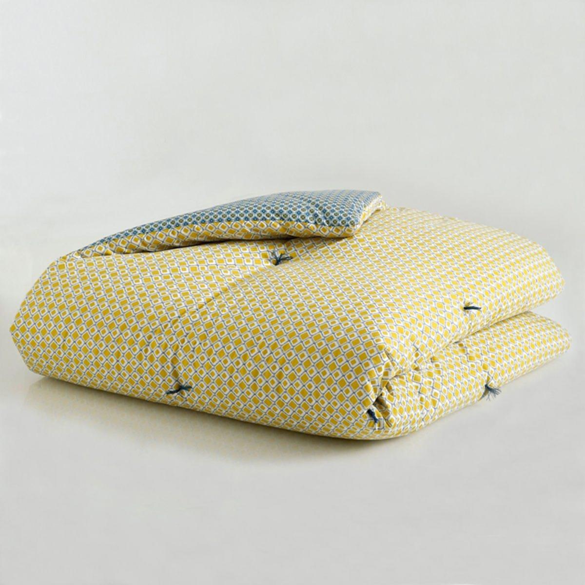 Одеяло La Redoute С галстучным рисунком MASHITA 90 x 190 см желтый ковер la redoute горизонтального плетения с рисунком цементная плитка iswik 120 x 170 см бежевый