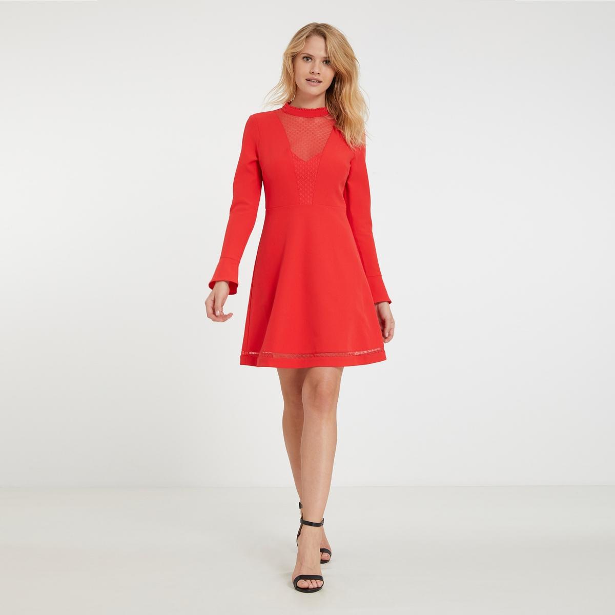Платье короткое расклешенное однотонное с длинными рукавами платье облегающее короткое однотонное с длинными рукавами