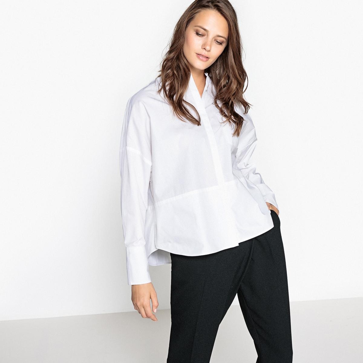 Рубашка объемная, XL, воротник-мао