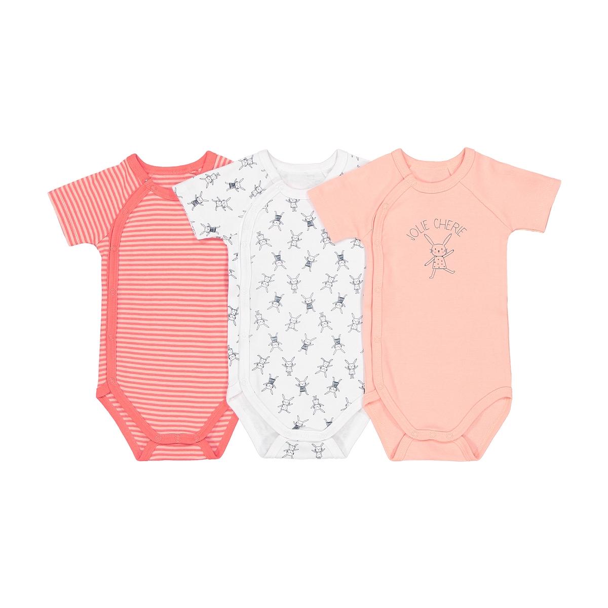 Lote de 3 bodies para recém-nascido, prematuro - 2 anos, Oeko Tex