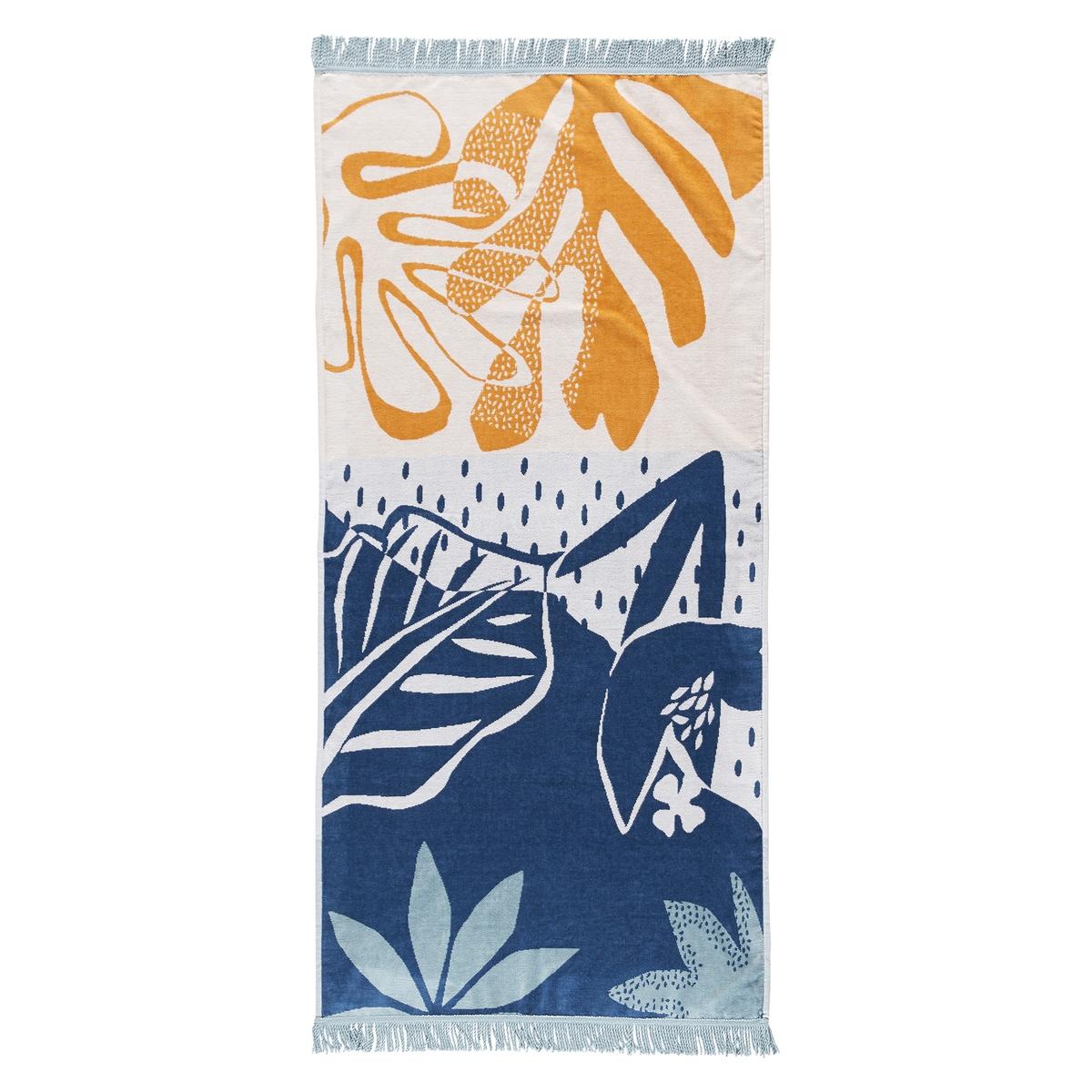 Полотенце La Redoute Пляжное из велюра Maranhao единый размер разноцветный комплект из банных принадлежностей la redoute из махровой ткани гм scenario единый размер белый