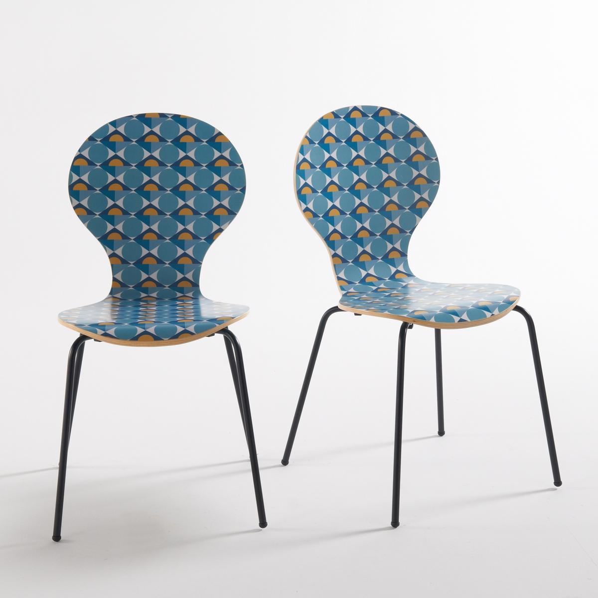 2 стула Barting с рисунком