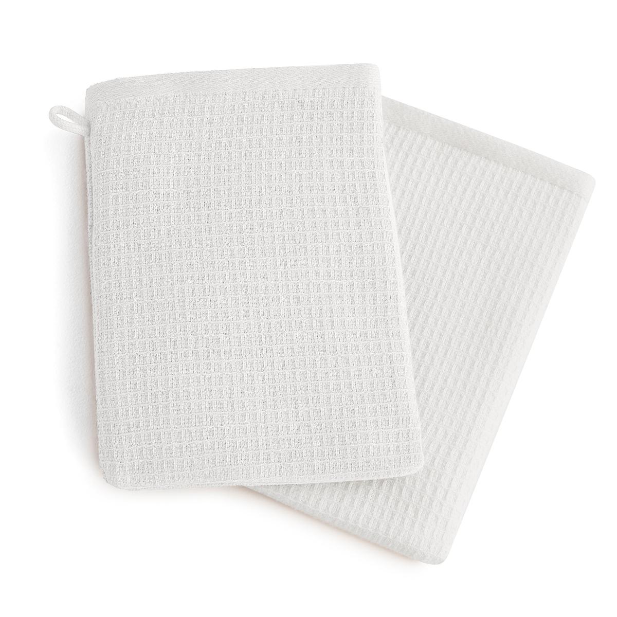 Комплект из 2 банных рукавичек из хлопка и льна Nipaly куртка на молнии из хлопка льна