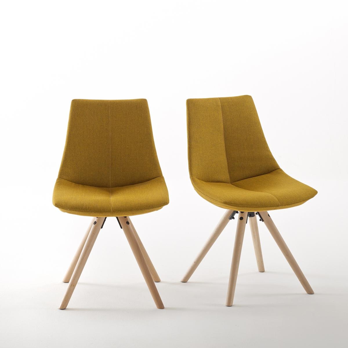 Комплект из 2 мягких стульев Asting2 мягких стула Asting. Очень стильный дизайн с графическими перспективами стульев Asting, которые обладают неоспоримым комфортом. Характеристики мягких стульев Asting :Тканевое покрытие, 100% полиэстера.Сиденье из полипропилена с наполнителем из 100% пенополиуретана плотностью 24 кг/м?.Ножки из массива бука с покрытием нитроцеллюлозным лаком. Откройте для себя табуреты и другие модели коллекции Asting на сайте laredoute.ru.Размер мягких стульев Asting:Общие :Длина :  48 смВысота : 81,5 смГлубина :  54 смСиденье : В 45 смРазмеры и вес упаковки :1 упаковкаШ 61 x В 50 x Г 51 см14,1 кгДоставка :Мягкие стулья Asting продаются в разобранном виде. Стулья доставляются до квартиры по предварительной заявке !Внимание ! Убедитесь, что товар возможно доставить на дом, учитывая его габариты (проходит в двери, по лестницам, в лифты).<br><br>Цвет: желтый горчичный