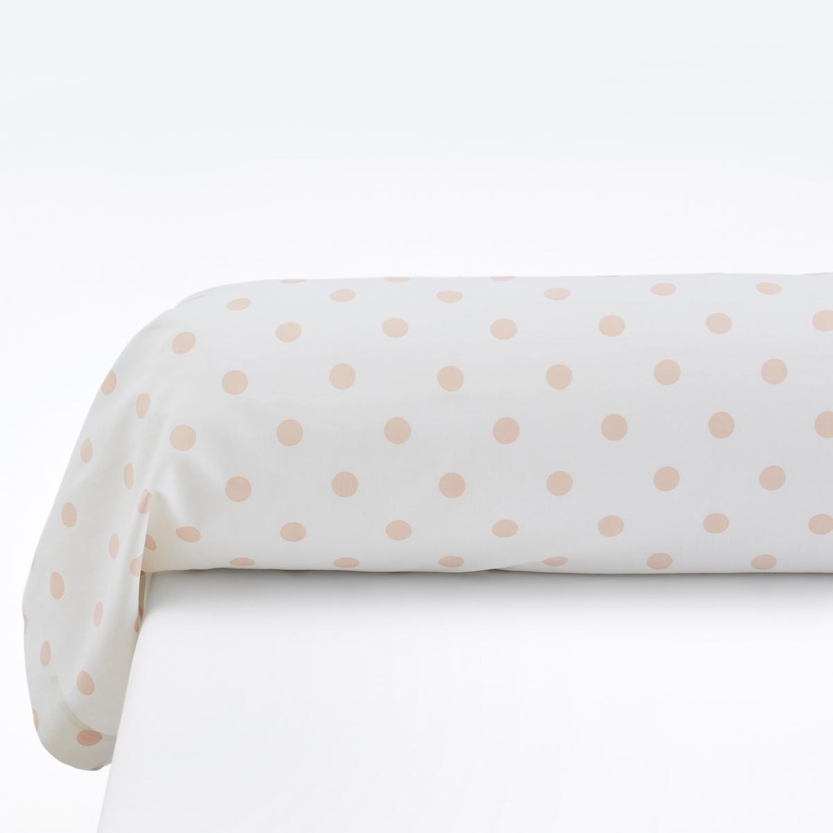 Наволочки на подушку-валик с рисунком в горошек, Clarisse