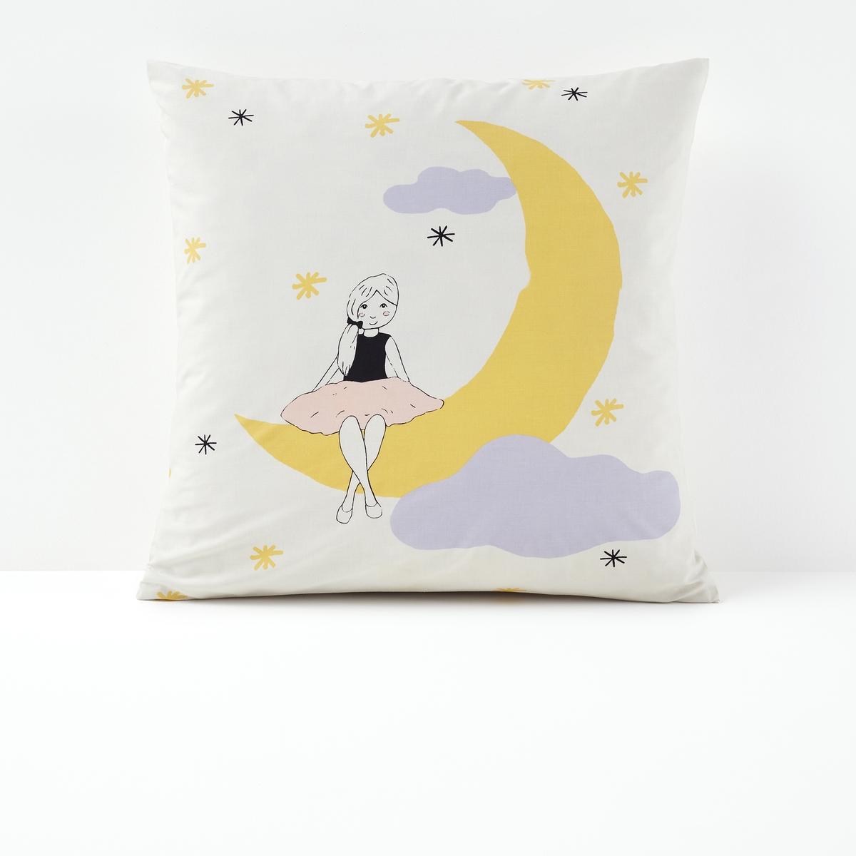 Fronha de almofada estampada, Moongirl, para criança