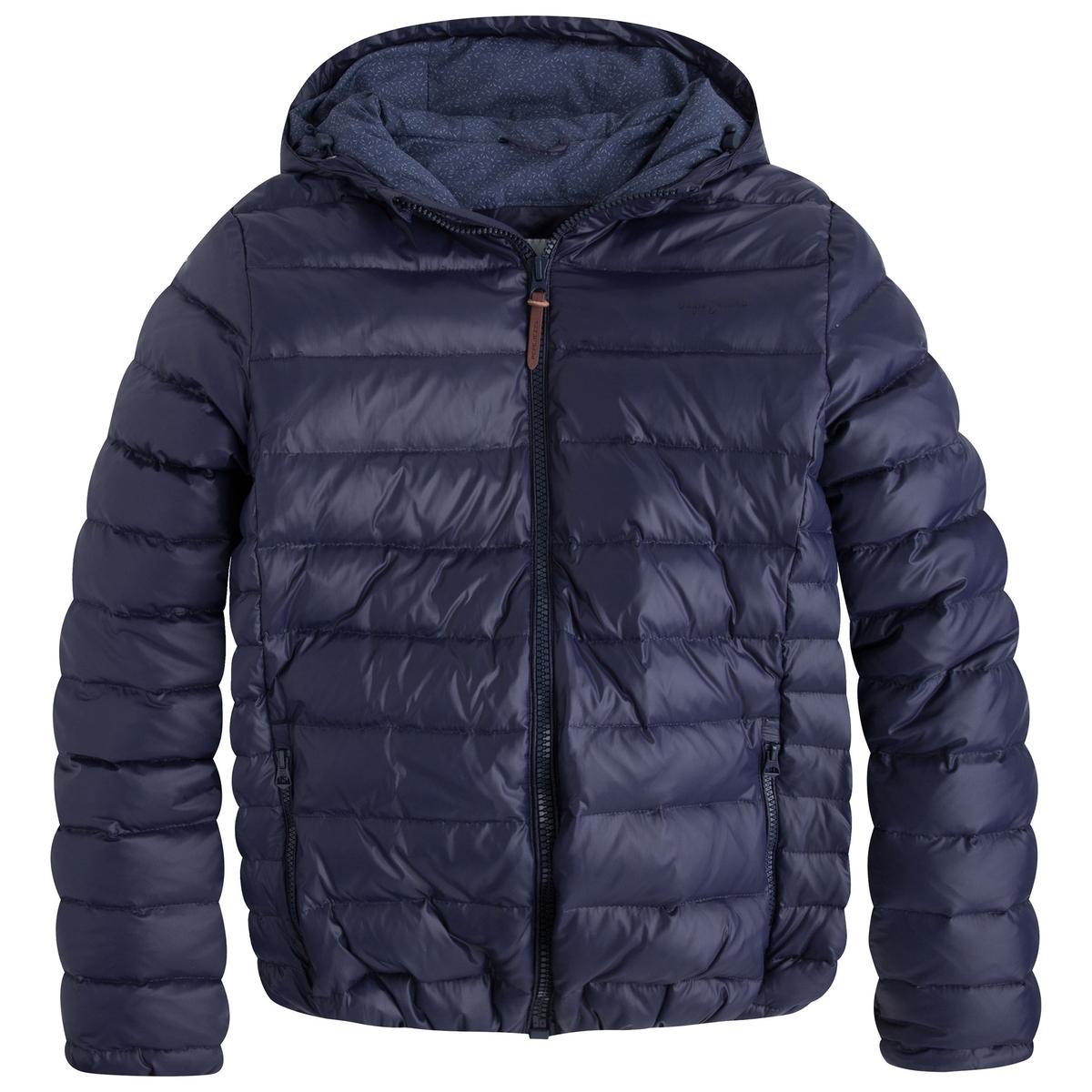 Стеганая куртка с капюшоном PEPE JEANSСостав и описание:Материал: 100% полиамидаМарка: PEPE JEANS<br><br>Цвет: синий