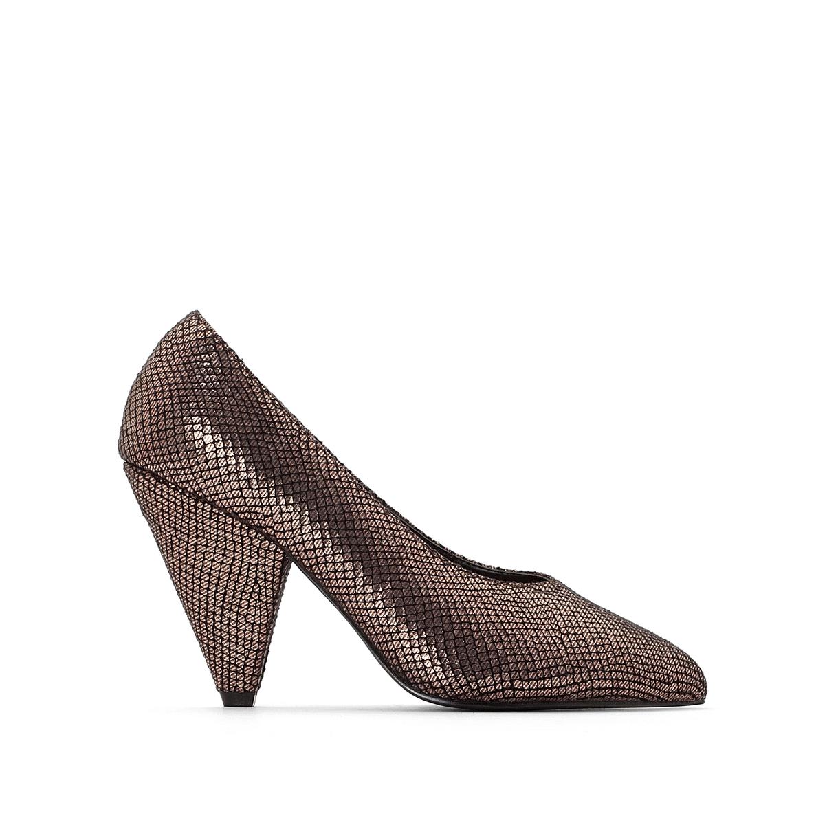 Туфли-лодочки из сатиновой ткани с заострённым мыском