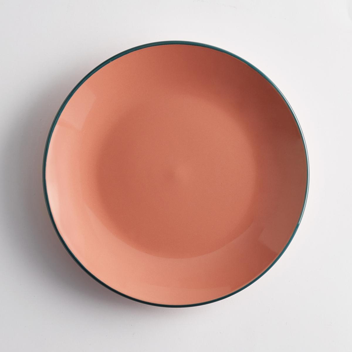 Комплект из мелких тарелок La Redoute Из фаянса DOTKA единый размер красный