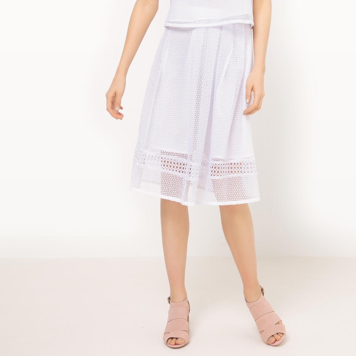 Юбка-мидиМатериал : 100% полиэстер       Рисунок : Однотонная модель      Длина юбки : удлиненная модель.      Особенность материала : Кружево      Особенность юбки : ажурный трикотаж      Стирка : ручная стирка      Уход : Температура глажки низкая / не отбеливать     Машинная сушка : машинная сушка запрещена      Глажка : Сухая (химическая) чистка запрещена<br><br>Цвет: белый,черный<br>Размер: 34 (FR) - 40 (RUS).42 (FR) - 48 (RUS).44 (FR) - 50 (RUS).38 (FR) - 44 (RUS).46 (FR) - 52 (RUS)
