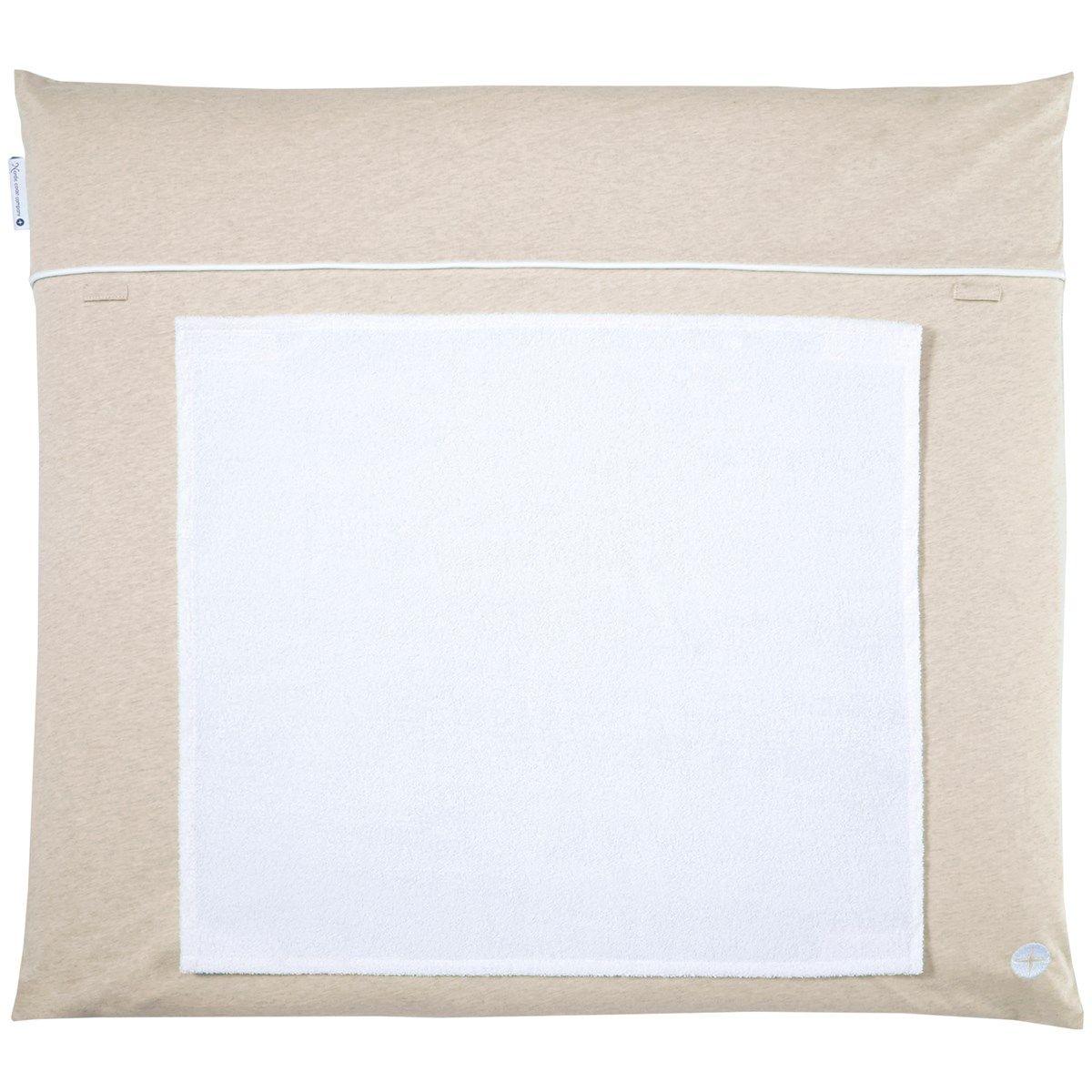 Matelas à langer 70x80cm lavable tissu en beige avec 3 serviette imperméable
