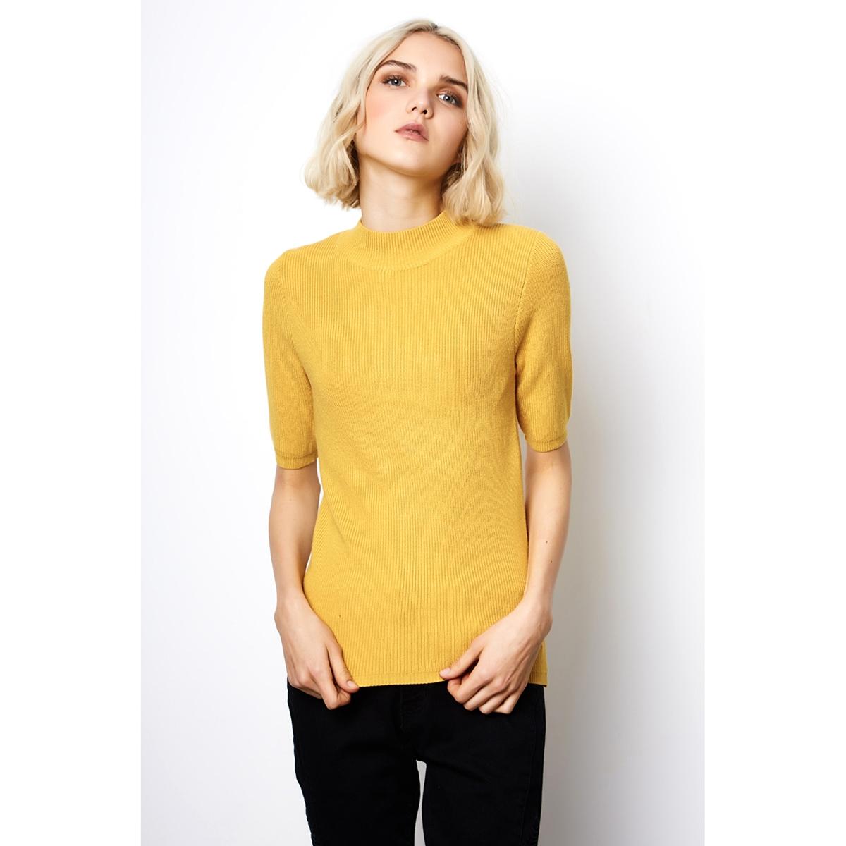 Пуловер из тонкого трикотажа с воротником-стойкой