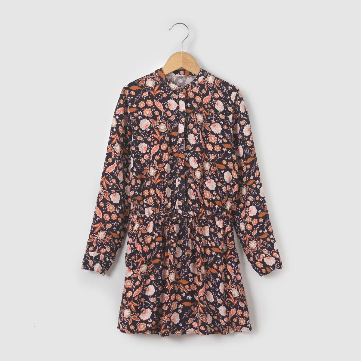 Платье с принтом, 3-12 лет