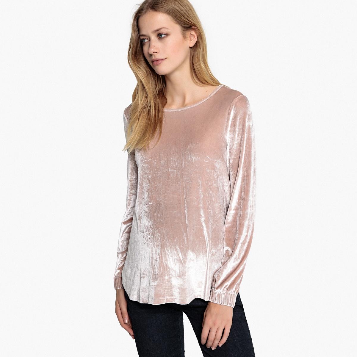 Лонгслив La Redoute С длинными рукавами из велюра для периода беременности S розовый пижама la redoute из велюра с принтом спереди мес 3 года 94 см розовый