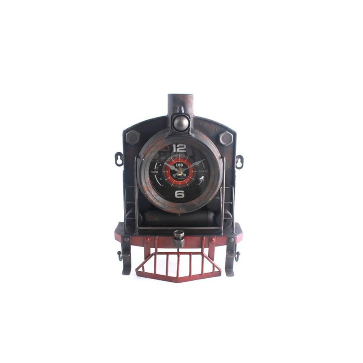 pier import horloge poser rtro locomotive en mtal vieilli 23x8xh33cm