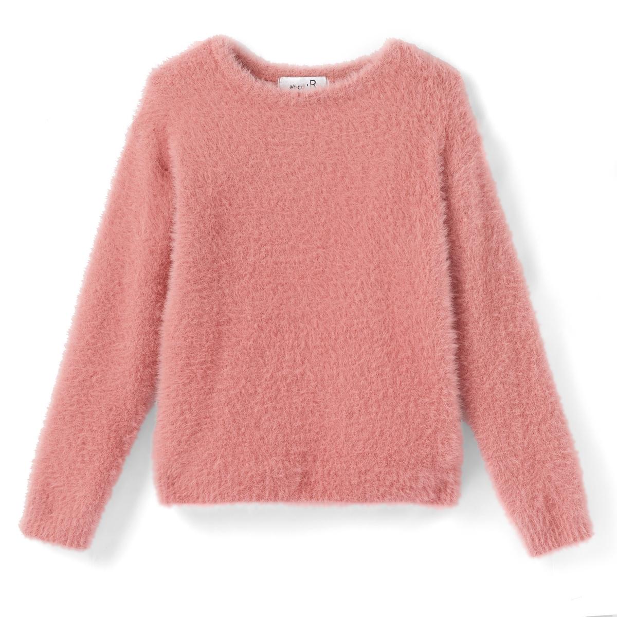 Пуловер с круглым вырезом из очень мягкого трикотажа, 3-12 лет