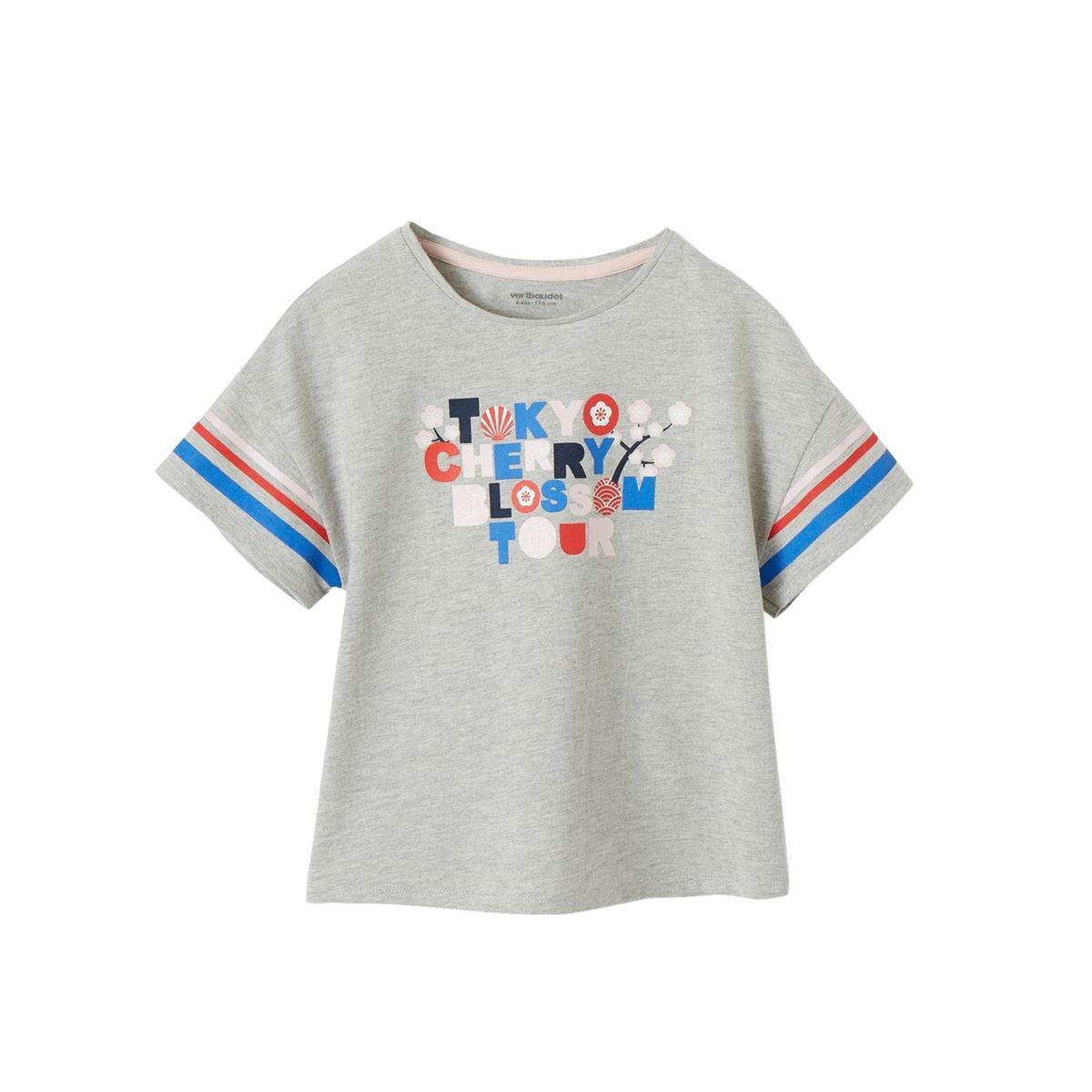 T-shirt motif graphique détails irisés