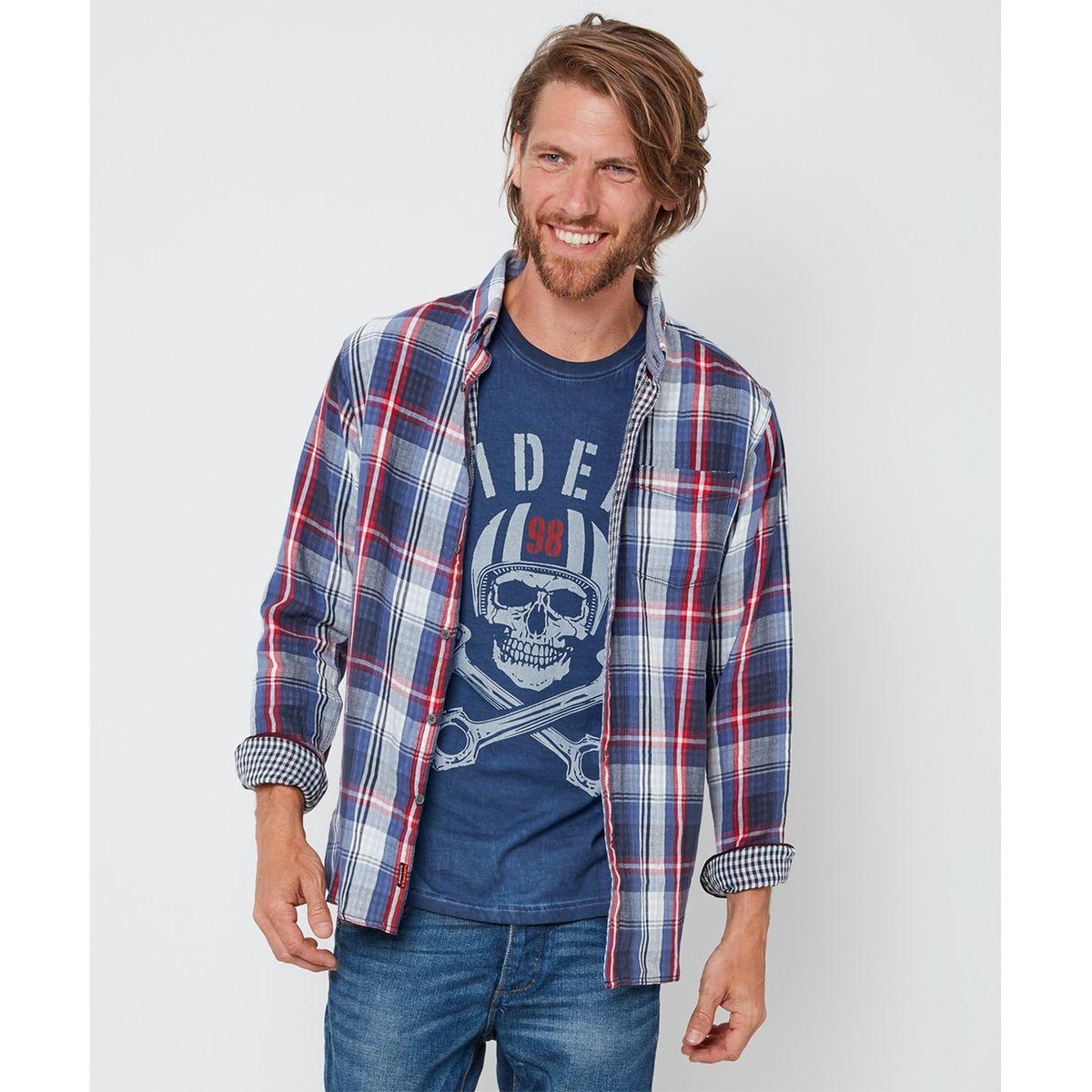 Chemise classique boutonnée à carreaux