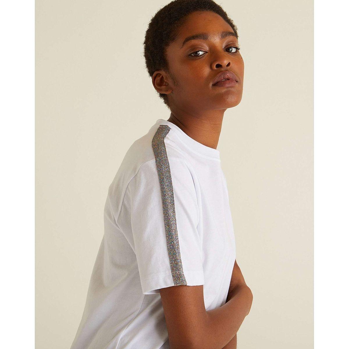 Sparkle Stripe  Cotton T-Shirt