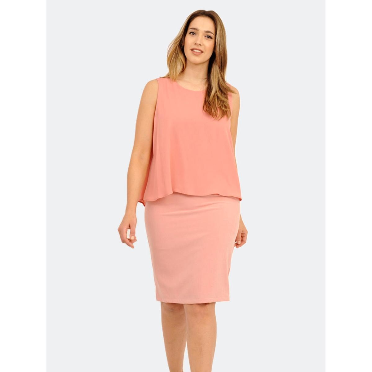 Платье 2 в 1Платье 2 в 1 - LOVEDROBE. Без рукавов. Красивый вырез сзади. Длина ок.104 см. 100% полиэстера.<br><br>Цвет: персиковый