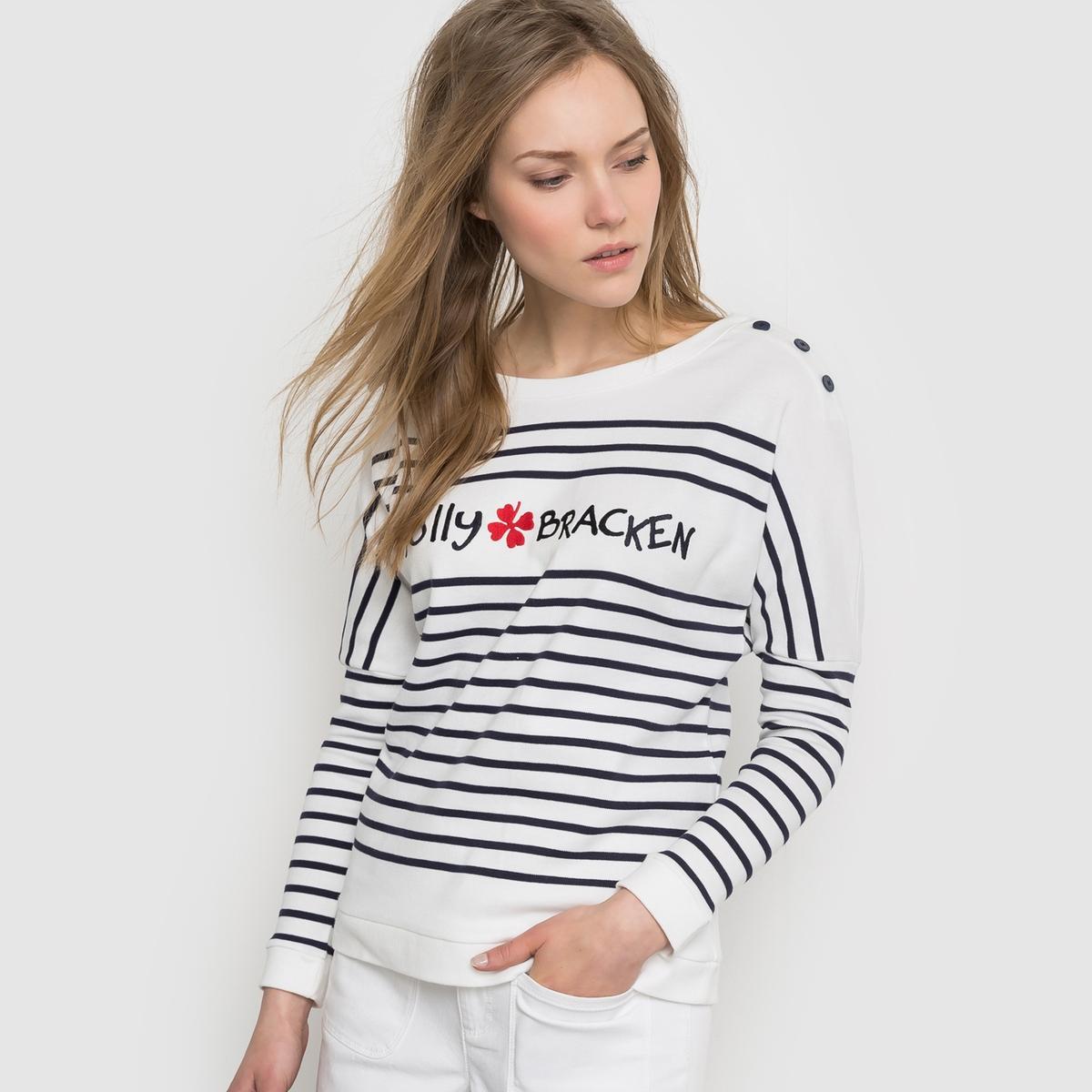 Пуловер в полоску - MOLLY BRACKEN, LADIES KNITTED SWEATERСостав и описание:Материал: 100% хлопка.Марка: MOLLY BRACKEN<br><br>Цвет: в полоску черный/белый<br>Размер: XS