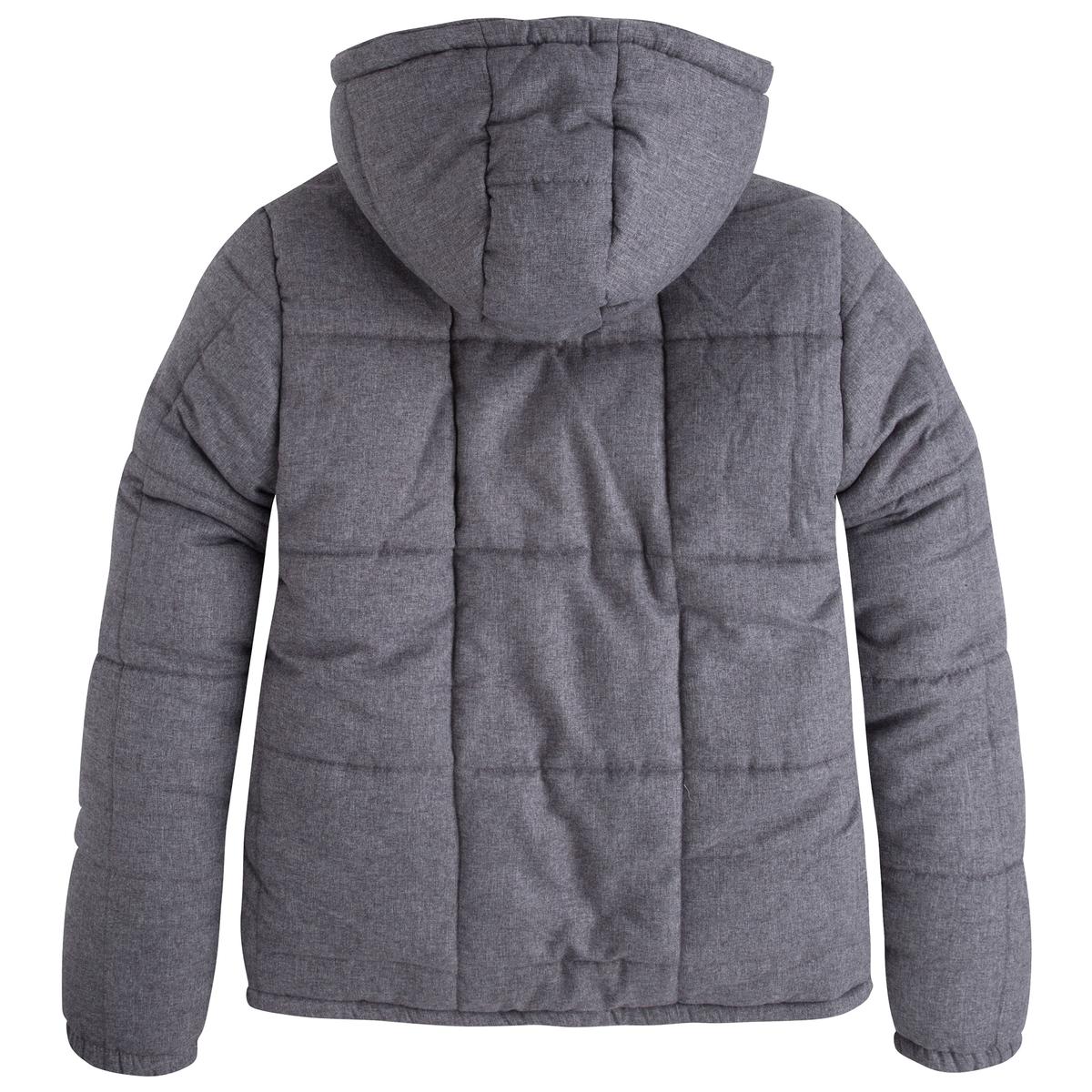 Куртка стёганая с капюшономСтёганая куртка с длинными рукавами и капюшоном PEPE JEANS. Прямой покрой, круглый вырез с капюшоном. Застежка на молнию. 2 кармана по бокам. Края капюшона на кулиске.Состав и описание :Материал : 100% полиэстера Марка : PEPE JEANS<br><br>Цвет: серый меланж