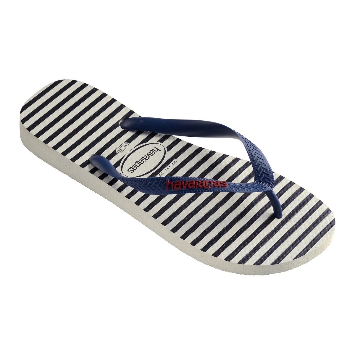 Вьетнамки Top NauticalВерх : каучук   Стелька : каучук   Подошва : каучук   Форма каблука : плоский каблук   Мысок : открытый мысок   Застежка : без застежки<br><br>Цвет: синий/ белый<br>Размер: 43/44