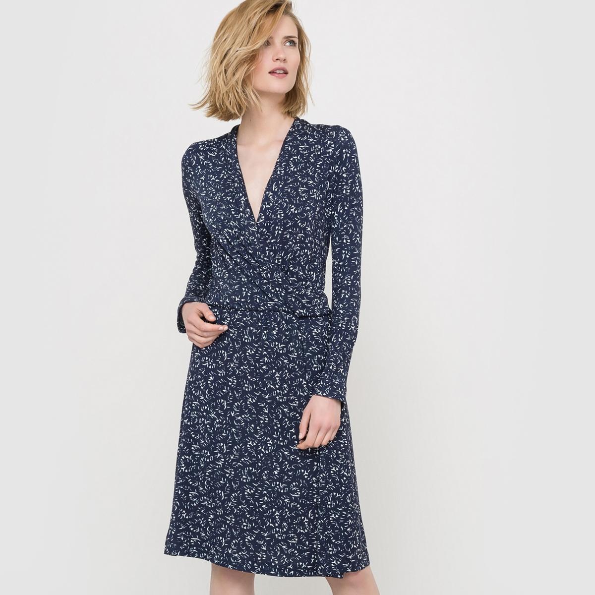 Платье трикотажное с рисунком платье трикотажное с рисунком