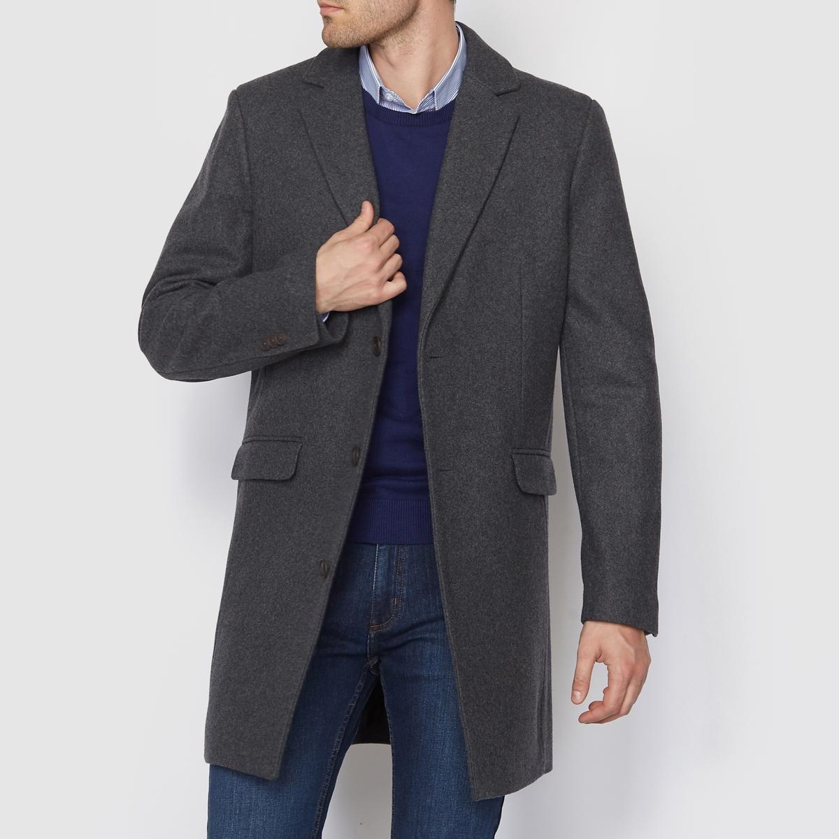 Пальто из шерстяного драпаСостав и описание :          Материал : Шерстяной драп,  60% шерсти, 25% полиэстера, 10% других волокон,5% акрила.           Марка : R essentiel.                      Уход :        Сухая чистка.<br><br>Цвет: антрацит<br>Размер: M