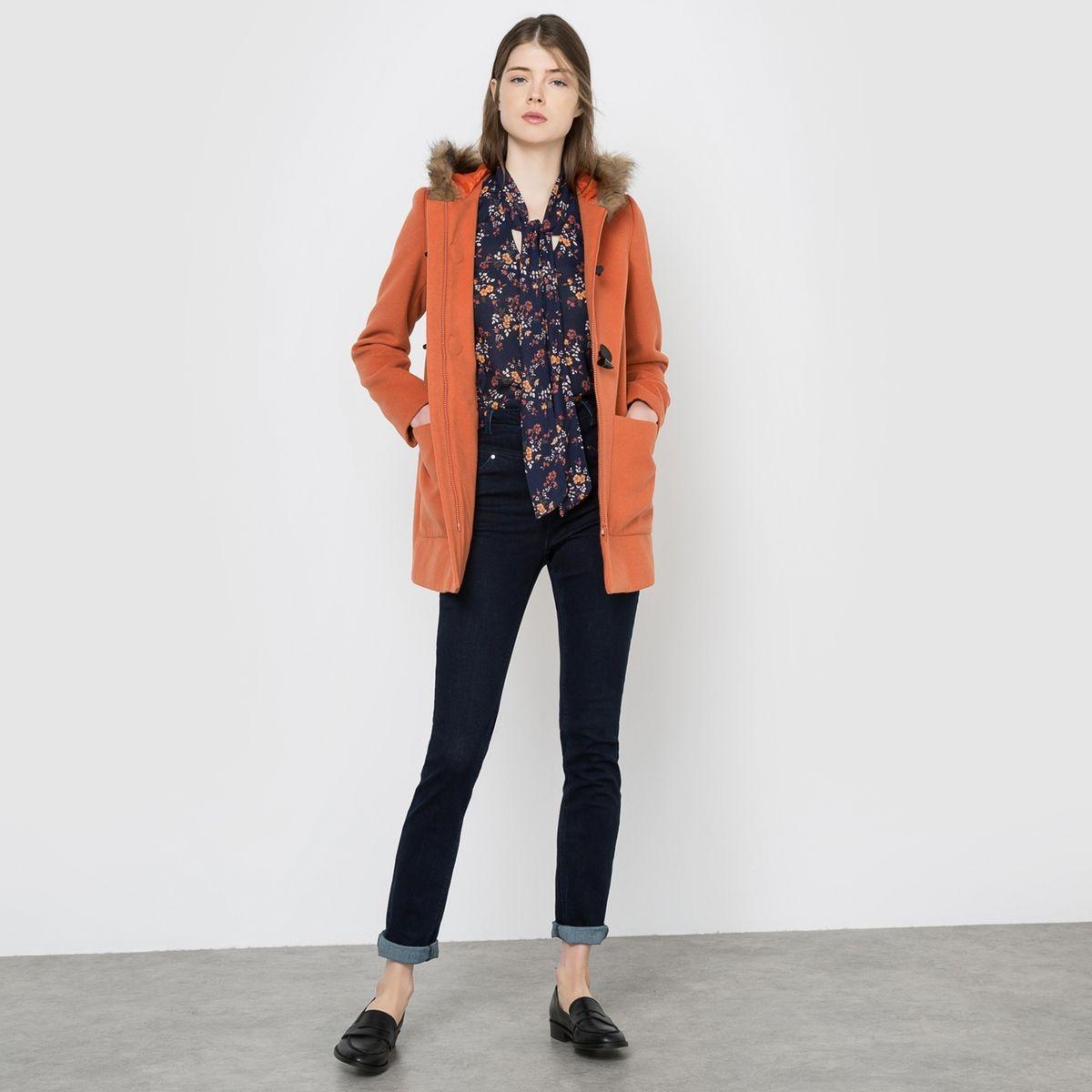 Duffle-coat à capuche orange
