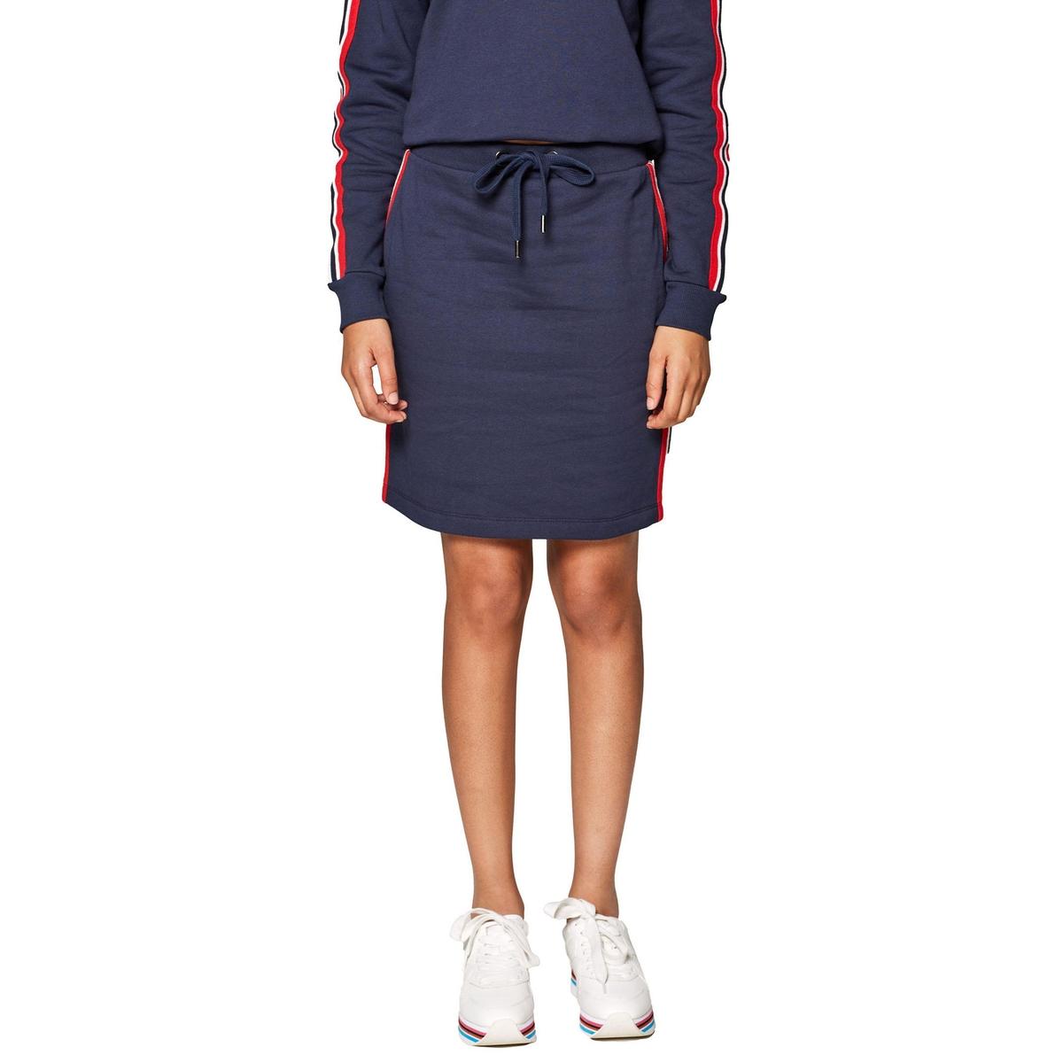 Falda de felpa con cintura elástica