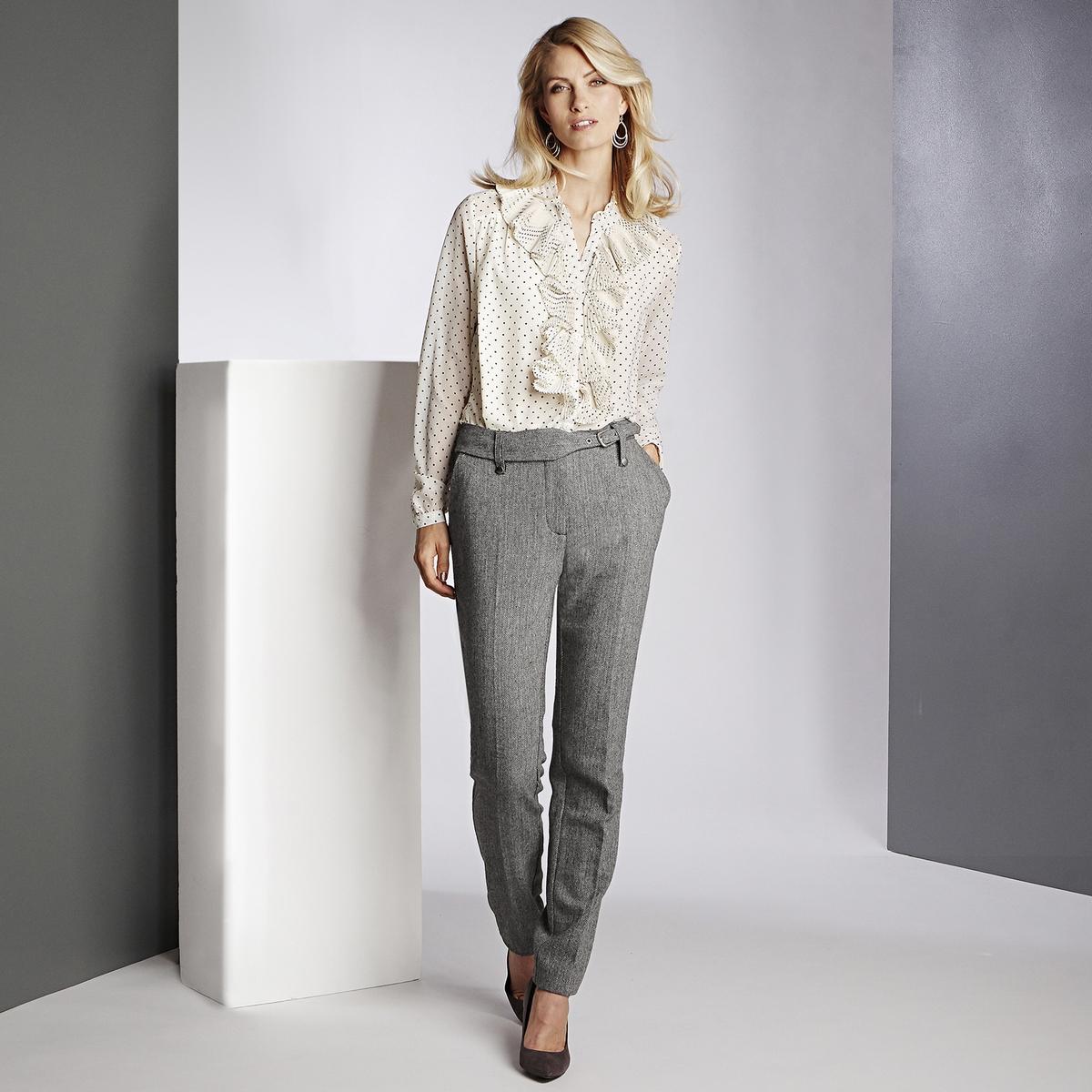 Imagen secundaria de producto de Pantalón recto de tweed, cinturón fantasía - Anne weyburn