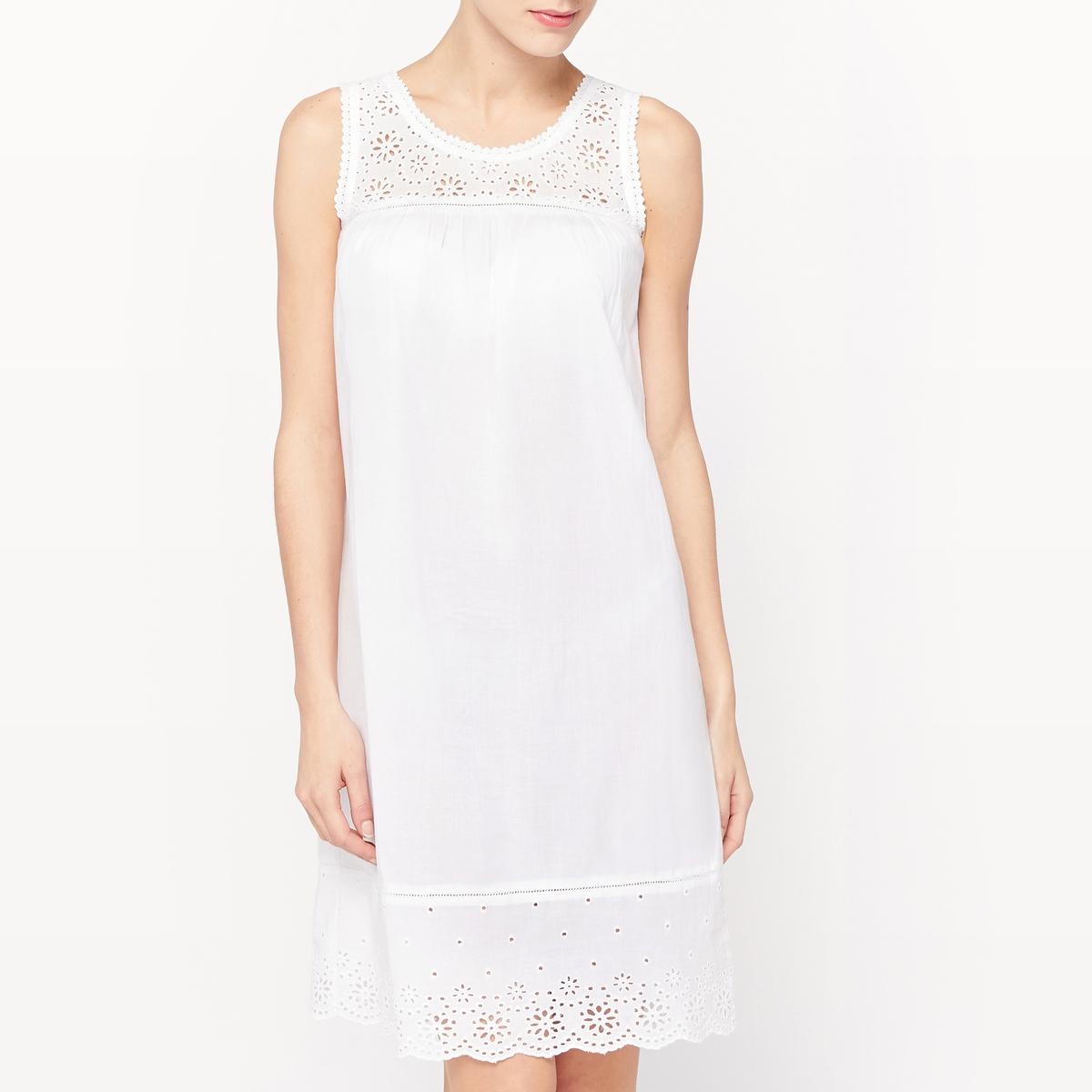 Сорочка ночная ночная сорочка длинная без рукавов