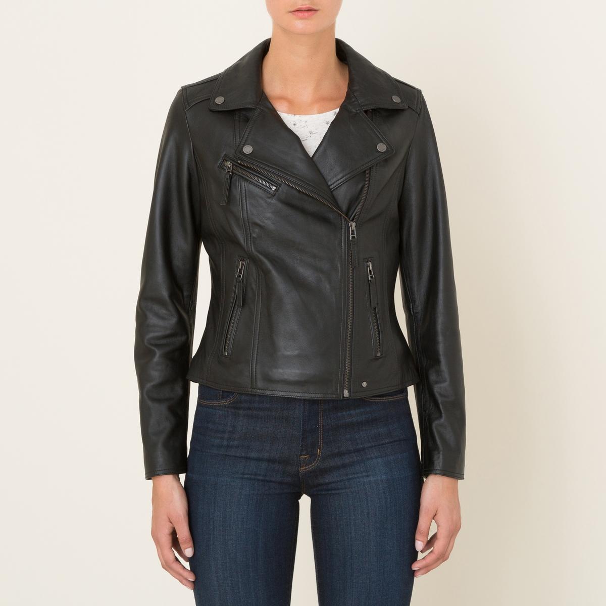 Блузон кожаный на молнии CLIP блузон кожаный