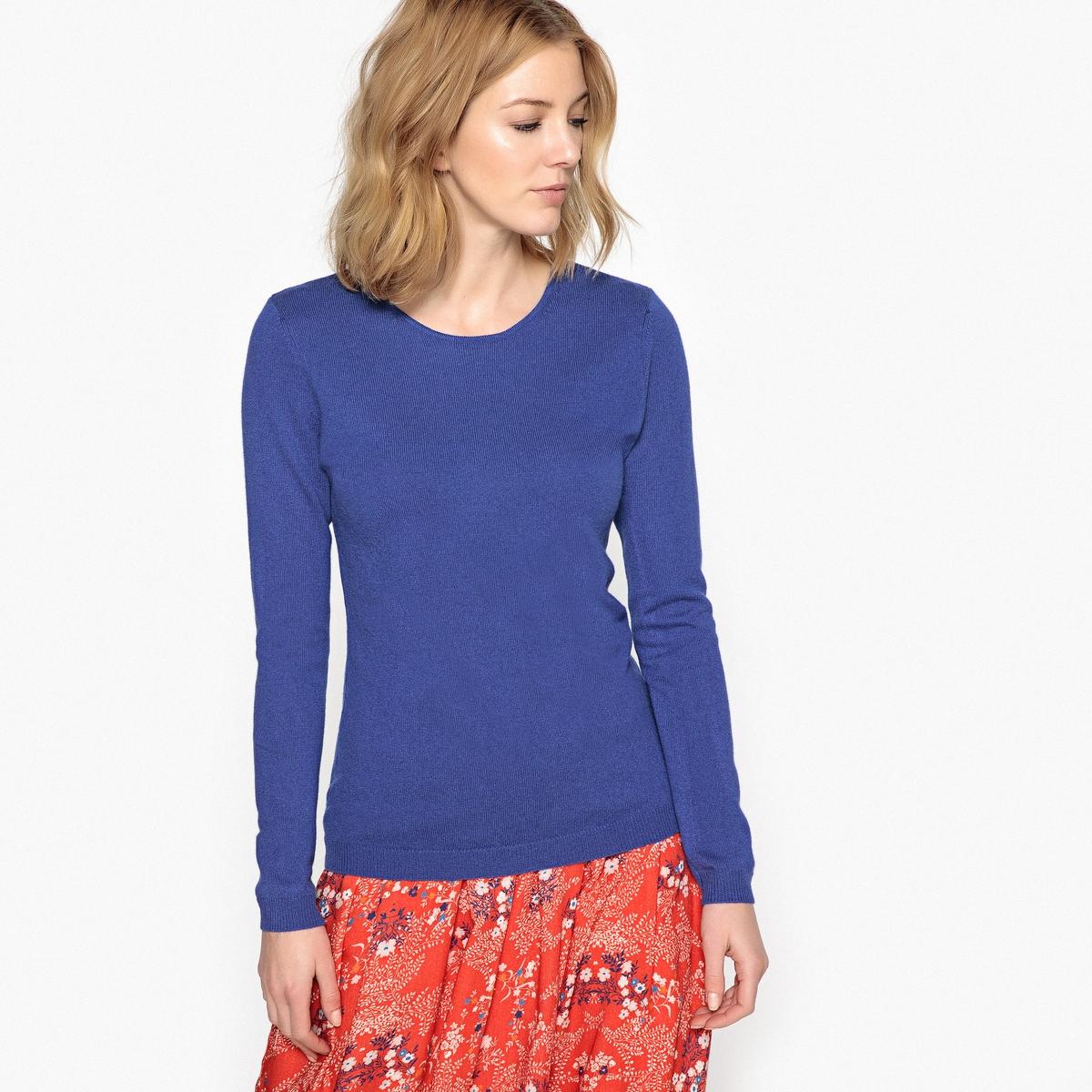 Пуловер с круглым вырезом, 100% кашемир