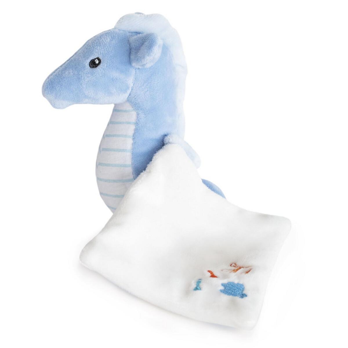 An image of Doudou Et Compagnie 17cm Newborn Seahorse Comforter