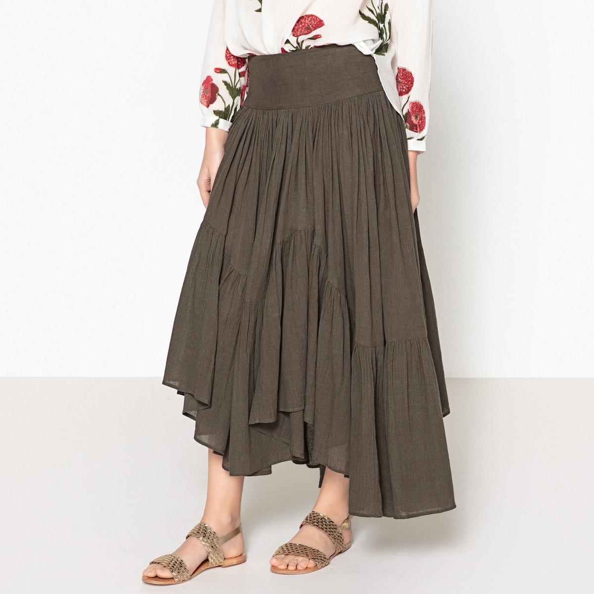 Юбка удлиненная FRIDAОписание:Удлиненная юбка от LAURENCE BRAS - модель FRIDA. Женственная модель: удлиненная и расклешенная.Детали •  Форма: расклешенная. •  Длина миди, 3/4. Состав и уход •  100% хлопок. •  Следуйте советам по уходу, указанным на этикетке.<br><br>Цвет: хаки
