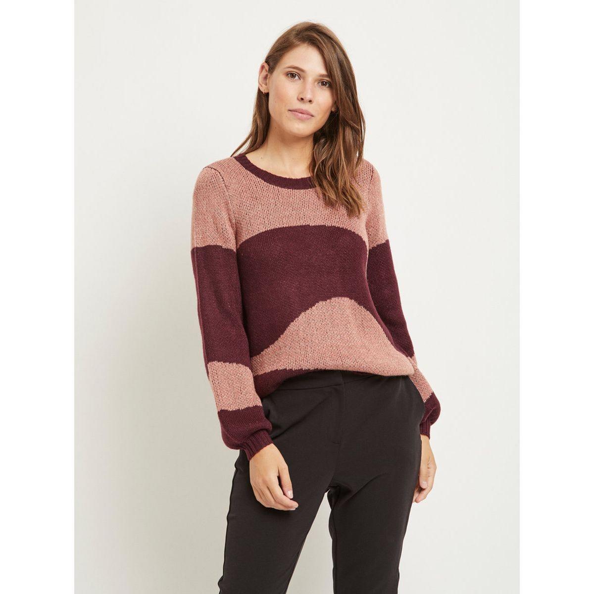 Пуловер La Redoute С круглым вырезом из тонкого трикотажа XS розовый цены