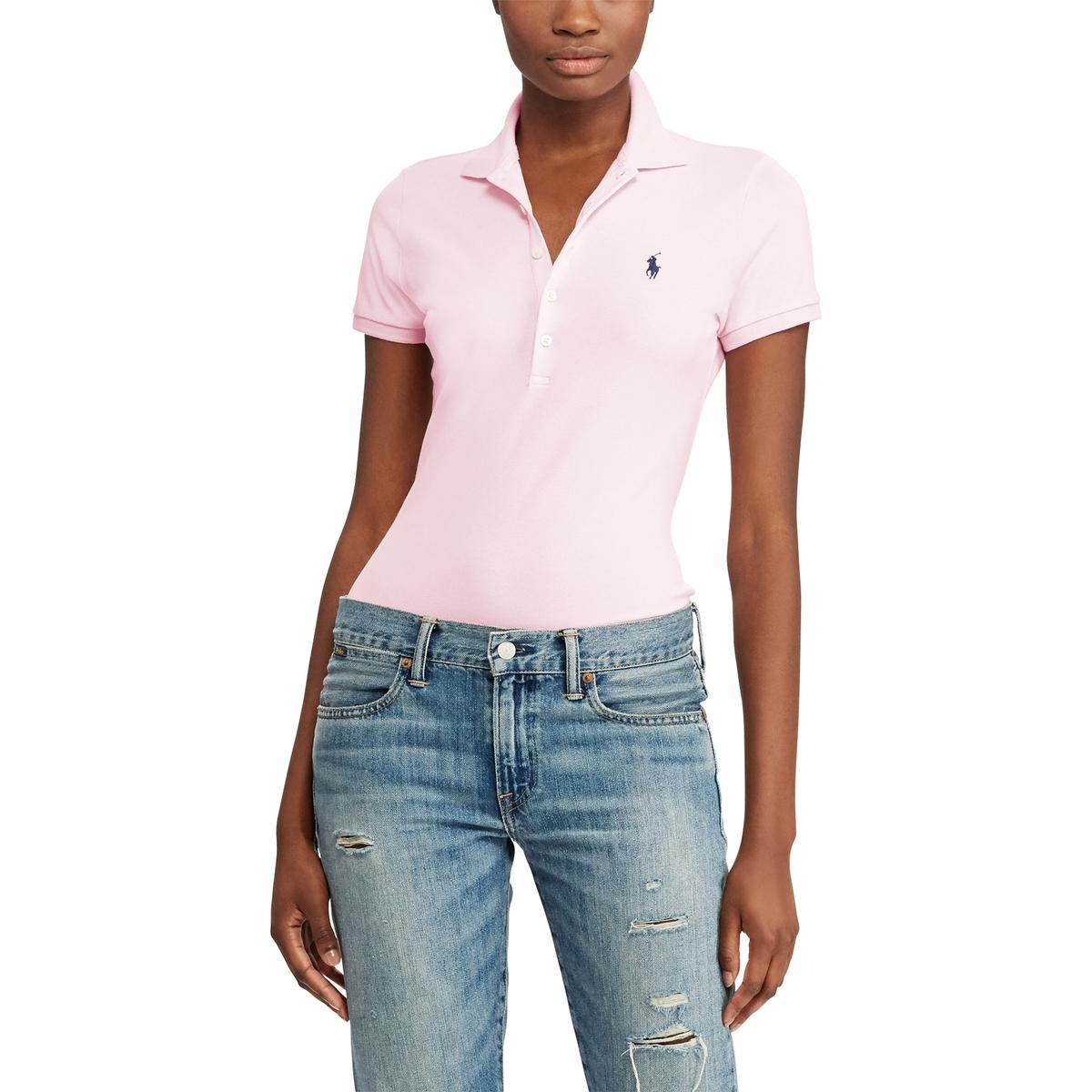 Футболка-поло La Redoute С короткими рукавами M розовый футболка поло la redoute с короткими рукавами xs белый